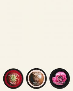Výživné, ovocné & kvetinové trio telových masiel