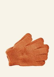 Sprchovacia rukavica - oranžová