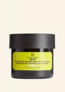 Nočná maska s olejom z konopného semienka
