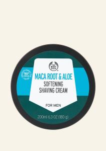 Maca root a aloe pleť zjemňujúci krém na holenie